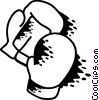 Boxing gloves Vector Clipart illustration
