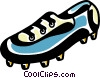 Vector Clip Art picture  of a Soccer cleats