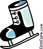 Vector Clip Art graphic  of a Ice skates