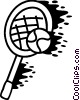 Vector Clipart picture  of a Tennis racket and tennis ball