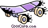 Vector Clip Art graphic  of a Skateboard