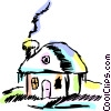 Vector Clip Art image  of a Cottage