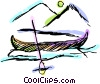 Canoe Vector Clipart graphic