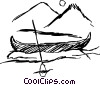 Vector Clipart illustration  of a Canoe