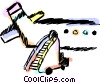 Vector Clip Art image  of a Portable stairs