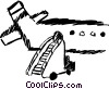 Portable stairs Vector Clip Art picture
