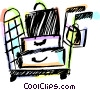 Vector Clipart picture  of a Luggage cart