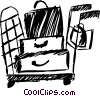 Luggage cart Vector Clipart graphic