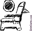 airplane seat Vector Clip Art graphic