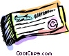 Vector Clip Art image  of an Airline ticket