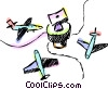 Vector Clipart graphic  of an Airplanes parked at the