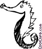 Vector Clip Art graphic  of a Sea horse