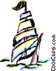 Vector Clipart graphic  of a Clipper sailboat
