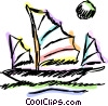 Vector Clip Art image  of a sailboat
