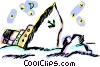 Vector Clipart picture  of a Sinking ship
