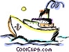 Vector Clip Art picture  of a Cruise ship