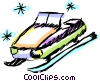 Snowmobile Vector Clip Art picture
