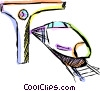 Trains parked at the station Vector Clip Art image