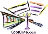Vector Clipart illustration  of a Subway station