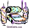 Vector Clip Art graphic  of a Car going through the wash