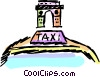 Taxi and the Arc du Triomphe Vector Clipart image