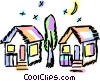 Houses Vector Clipart picture