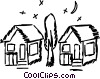 Vector Clipart graphic  of a Houses
