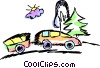 Family Car Vector Clip Art graphic