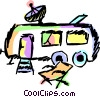 Camp Trailer Vector Clip Art graphic