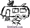 Vector Clipart graphic  of a Camp Trailer