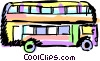 Vector Clip Art picture  of a Double decker bus