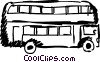 Double decker bus Vector Clip Art graphic