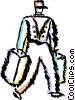 Vector Clip Art graphic  of a Bellboys Bellhops and Bell