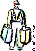Vector Clipart image  of a Bellboys Bellhops and Bell