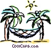 Relaxing at the Beach Vector Clip Art image