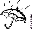 Vector Clip Art picture  of a Umbrellas