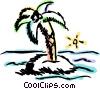 Vector Clip Art image  of a Islands
