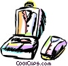 Vector Clipart illustration  of a Luggage and Storage
