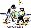 Beach Scenes Vector Clip Art picture