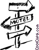 Street Signs Road Signs Vector Clipart graphic