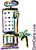 Vector Clipart picture  of a Hotels and Motels