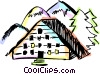 European Buildings Vector Clipart picture
