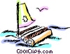 Vector Clipart graphic  of a Rafts