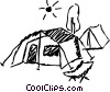 Tents Vector Clip Art picture