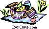 Picnics and Barbecues Vector Clip Art graphic
