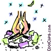 Vector Clip Art picture  of a Campfire
