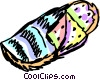Sleeping Bag & Mattress Vector Clipart illustration