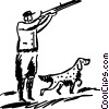 Vector Clip Art graphic  of a Hunting