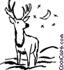 Vector Clip Art graphic  of a Deer