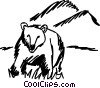 Vector Clip Art image  of a Grizzly Bears